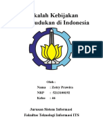 Makalah Kebijakan Kependudukan Di Indonesia