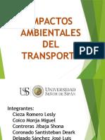 Impactos Ambientales Del Transporte - Grupo Shona
