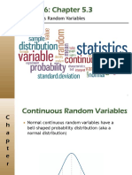 STAT-30100. Week 6 Chapter 5.3. Continuous Random Variables