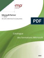 Catalogue Microsoft 2016