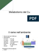 Metabolismo Del Rame