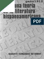 12139 FERNÁNDEZ RETAMAR, R. - Para Una Teoría de La Literatura Hispanoamericana [Por Ganz1912]