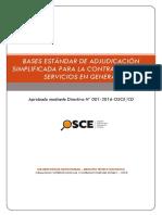 Bases Estandar as Servicios / DIREICAJ-PNP
