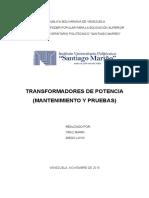 Mantenimiento y Pruebas Transformadores
