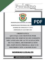 k. Ordenanza 022-2015 Derecho Emision 2016