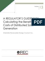 IREC Rabago Regulators Guidebook to Assessing Benefits and Costs of DSG