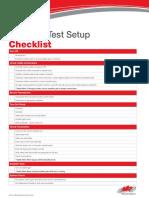 TestSetupChecklist Change