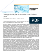 Can Appraisal Rights Be Available in an All-Stock Deal_ _ Appraisal Rights Litigation Blog
