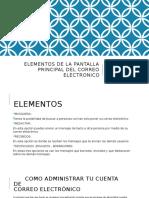 Elementos de La Pantalla Principal Del Correo Electronico
