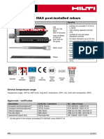 2012 Hilti HIT HY 150 MAX Post Installed Rebars