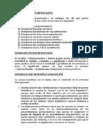 OBJETOS DE LA INTERPRETACIÓN