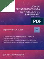 Clase 2 Codigo Deontologico
