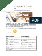 50 Preguntas Basicas de Ingles