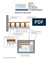Fitting Instructions for Resilient Bar Ceiling