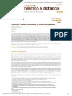 La Educación a Distancia Como Estrategia de Inclusión Social y Educativa - Revista Mexicana de Bachillerato a Distancia