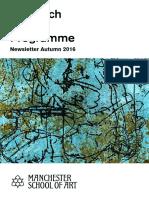 Research Degree Programme - Newsletter Autumn 2016