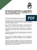 Declaración Institucional del Ayuntamiento  de Coslada con motivo de la conmemoración del 25 Aniversario de la creación de la Concejalia de la Infancia