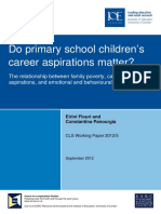 CLS WP 2012(5) - Do Primary School Children's Career Aspirations Matter - E Flouri and C Panourgia - Sept 2012