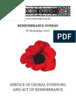 Remembrance Sunday 2015