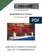 Remembrance Sunday 2016