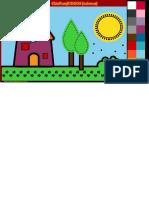 Dibujos Para Colorear Online_ Pintar Casita en El Campo