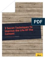 3 Secret Techniques to Improve the Life of the Content - eBook