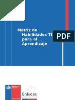 Matriz de Habilidades TIC Para El Aprendizaje