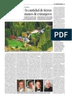 Quieren Limitar en Argentina La Cantidad de Tierras Productivas en Manos de Extranjeros