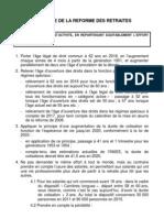 Synthese de la réforme des retraites - 16 juin 2010