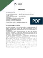 PSI4425 Gestión de Recursos Humanos_Ascencio_ MIERCOLES
