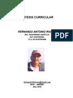 Sintesis Curricular Ing Fernando Rivero 2016 15112016