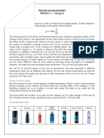 Pricing Management - Project 1 - Group 9