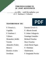 Testimonios Sobre El Padre Jos Kentenich p Esteban Uriburu