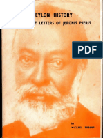 Facets of Modern Ceylon History Through the Letters of Jeronis Pieris