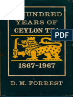 Hundred Years of Ceylon Tea 1867 1967