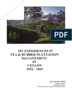 My Experiences in Tea and Rubber Plantation Management in Ceylon