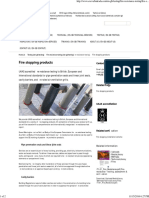 Fire Resistance Testing - Fire Stopping Products