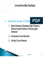 Transpo1-SightDistance Horizontal:Vertical Curve Elements