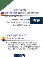 04_TRP_Ley Orgánica de Universidades y Decretos de Desarrollo