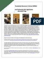 application visual performing arts  2017