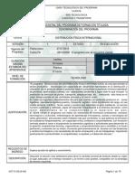 Programa de Formacion - DFI