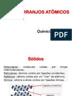 3°Aula -  Arranjos Atômicos (PUC) - Engenharia