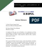 Informe Misionero de Japon - Junio 2010