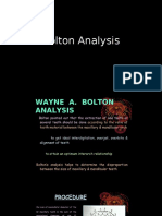 Bolton Analysis