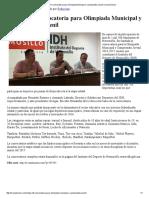 27/10/16 Lanza IDH Convocatoria Para Olimpiada Municipal y Campeonato Juvenil - Canal Sonora