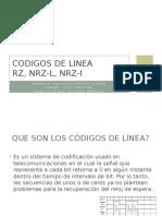 Codigos de Linea RZ,NRZ-L, NRZ-I