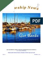 November 15, 2016 The Fellowship News