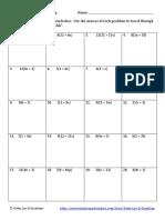 distributive property no negatives maze product
