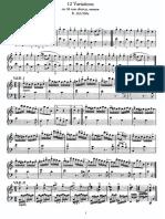 12 Variations on Ah! Vous-dirai-je Maman, K 265