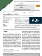 Wave Energy Potential Along the East Coast of Peninsular Malaysia